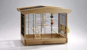 cage oiseaux bois